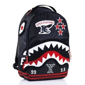 Spraygroud backpack b213 varsity shark chenille